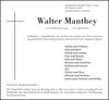 Walter Manthey