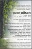 RUTH RÜSCH