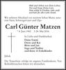 Carl Günter Matzen