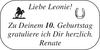 Leonie Zu gratuliere herzlich. Renate