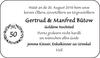 Gertrud Manfred Bütow