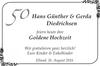 Hans Günther Gerda Diedrichsen