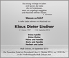 Klaus Dieter Lindner
