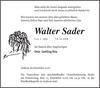 Walter Sader