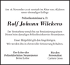 Rolf Johann Wilckens