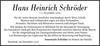 Hans Heinrich Schröder