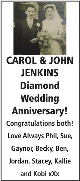 Anniversary notice for CAROL