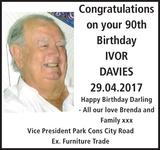 Birthday notice for on