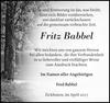 Fritz Babbel